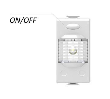 LED/1 - STEP-WELL LIGHT FOR MODULAR SERIE, ON 1 MODULE WITH PUSH ON/OFF
